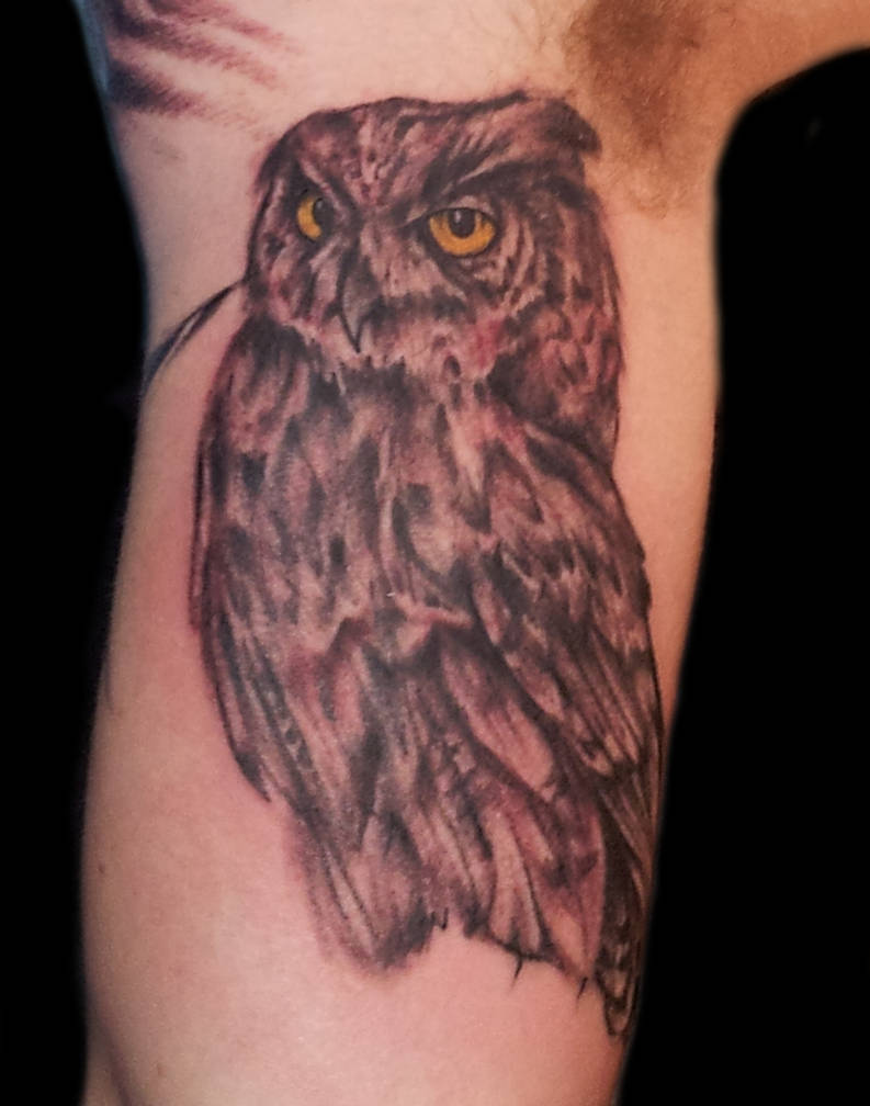 Owl Inner Arm Tattoo By Michaelmedinaart On Deviantart