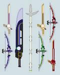 Toku sprite - Custom Weapons (Gear)