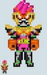 Chibi Rider sprite - Ex-Aid (Pac Action Gamer)