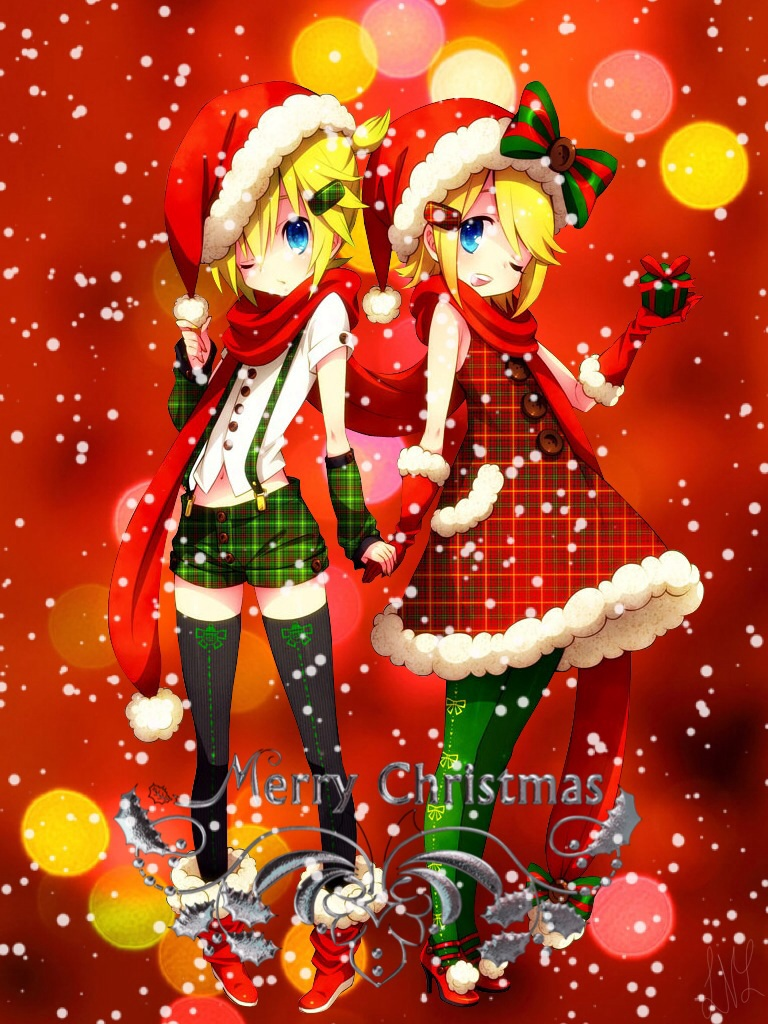 Anime Christmas Greeting Cards 13 121114 By Victoriaslaughter95