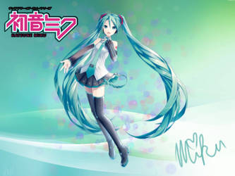 Hatsune Miku ''Signed'' Poster - 12/16/14 by VictoriaSlaughter95