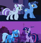 Trixie and Twilight are sisters