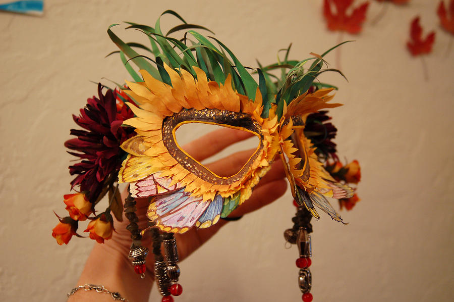 Queen of summer mask by heidifury on deviantart for Michaels arts and crafts queens