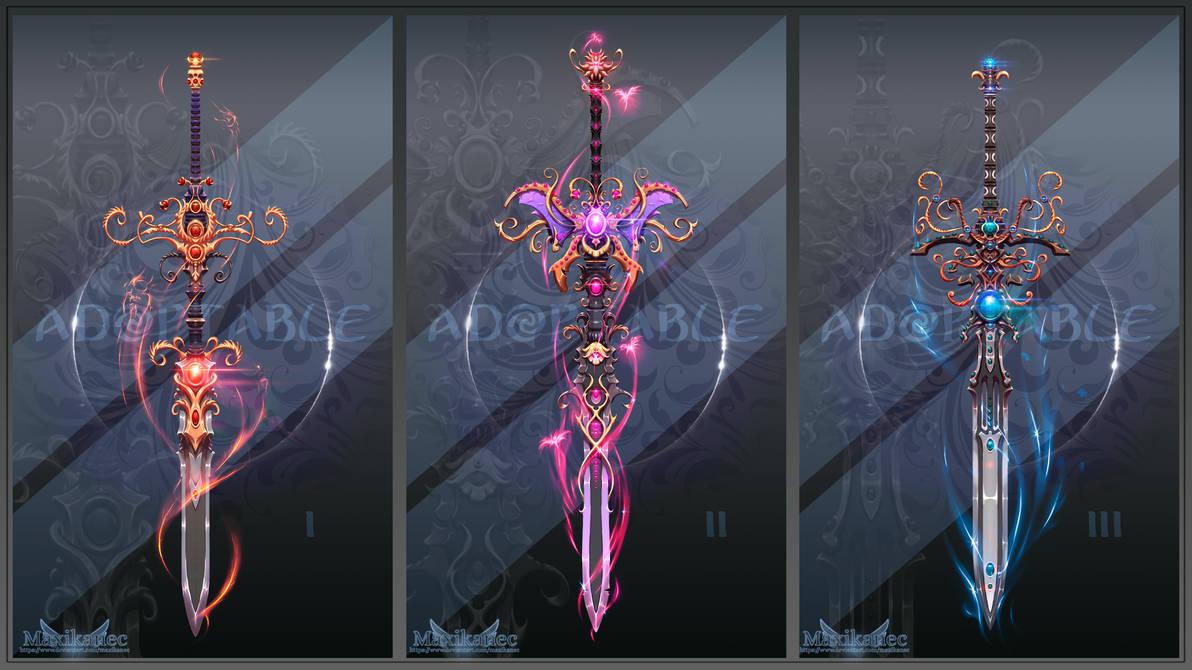 Adopt auction (CLOSED) - Sword Set #3