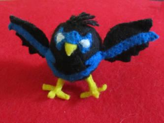 Nightwing Bird Plushy 1 by HELENDRAGON