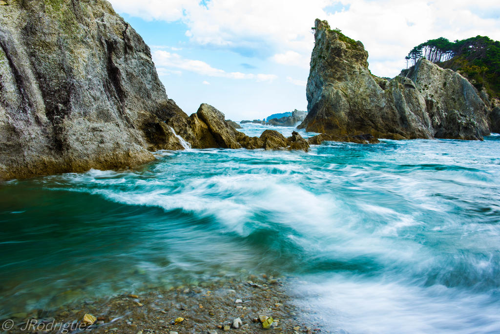 Jodogohama beach Miyako Japan by shad0wedwraith