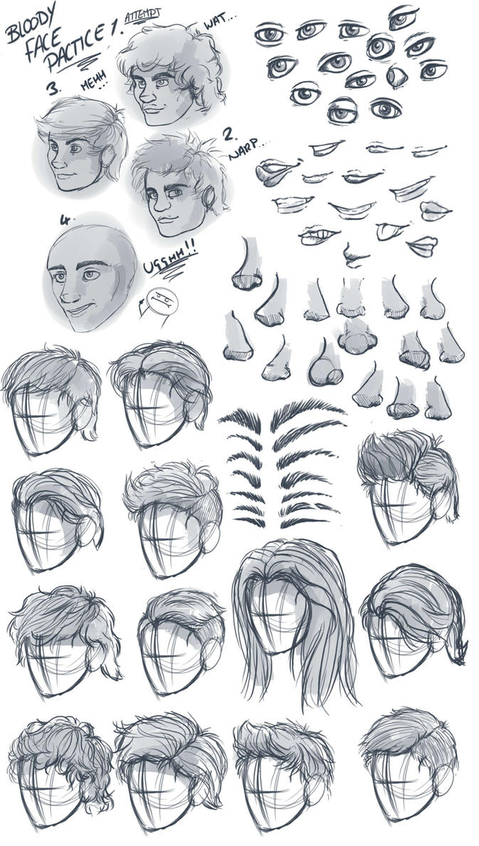 Male Facial and Hair Anatomy Dump by LockStockCreation on DeviantArt