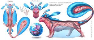 Aquatic Feline creature concept