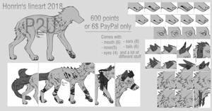 P2U canine lineart 2018