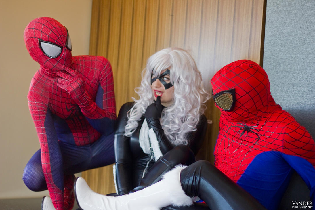 black cat and spiderman cosplay marvel comics 03 by