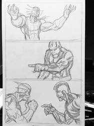 Merman pg5 pencils by robnor101