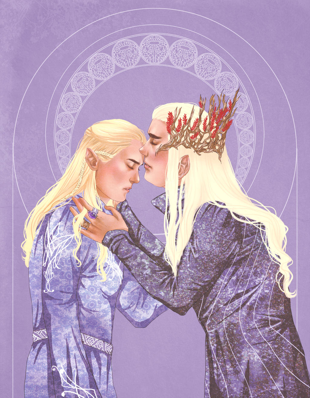 LotR+Thranduil and Legolas by Leyla-Lovely