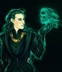 Thor+Loki the Sorcerer by Leyla-Lovely