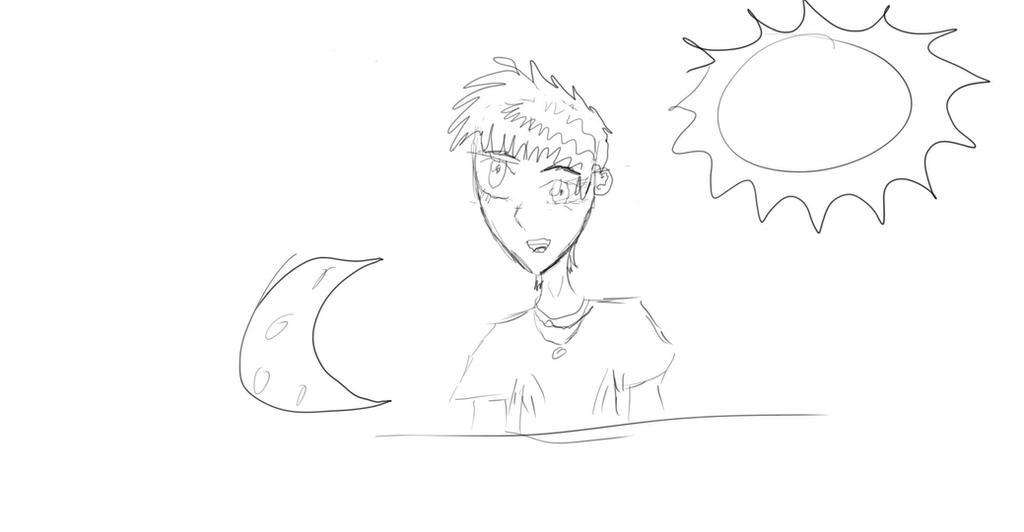 random tablet anime sketch by FennexShark
