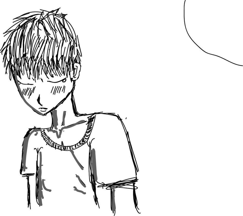 Sad Anime Drawing by FennexShark