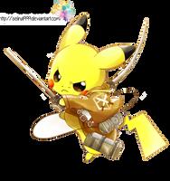 Render-Pikachu version Shingenki no kyojin by selina1999