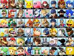 Super Smash Bros 4 Dream Roster(Realistic Version)