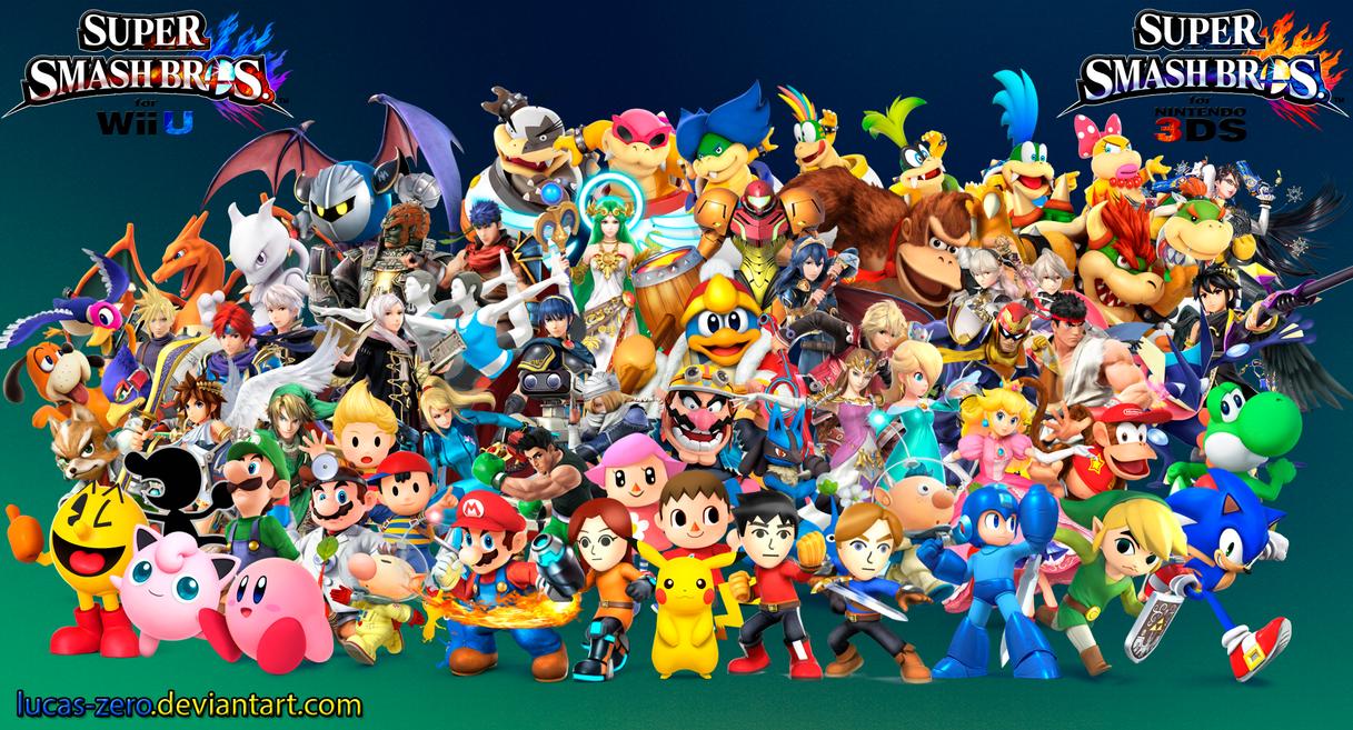 Super Smash Bros 4 Wallpaper By Lucas Zero