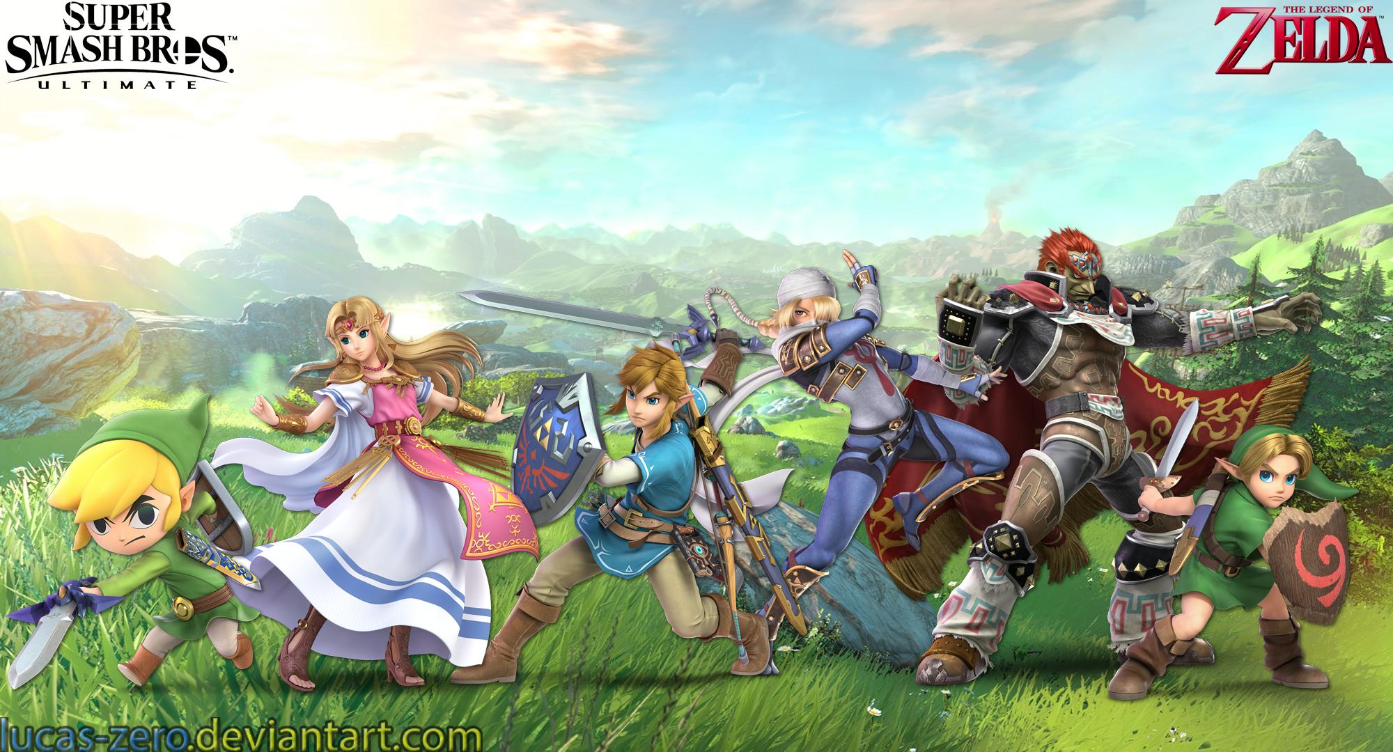 Zelda Super Smash Bros Ultimate Wallpaper By Lucas Zero On Deviantart
