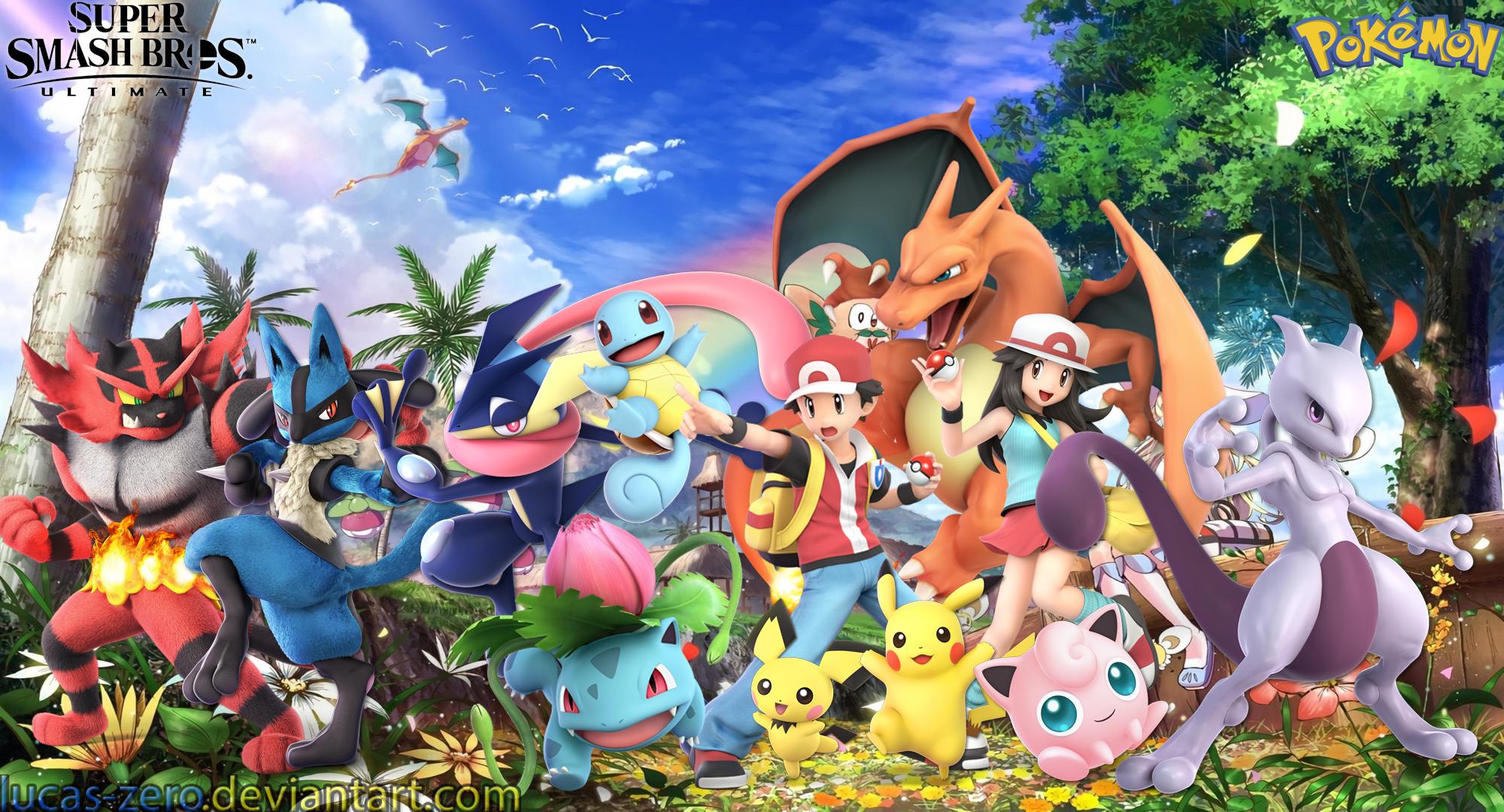 Pokemon Super Smash Bros Ultimate Wallpaper By Lucas Zero On