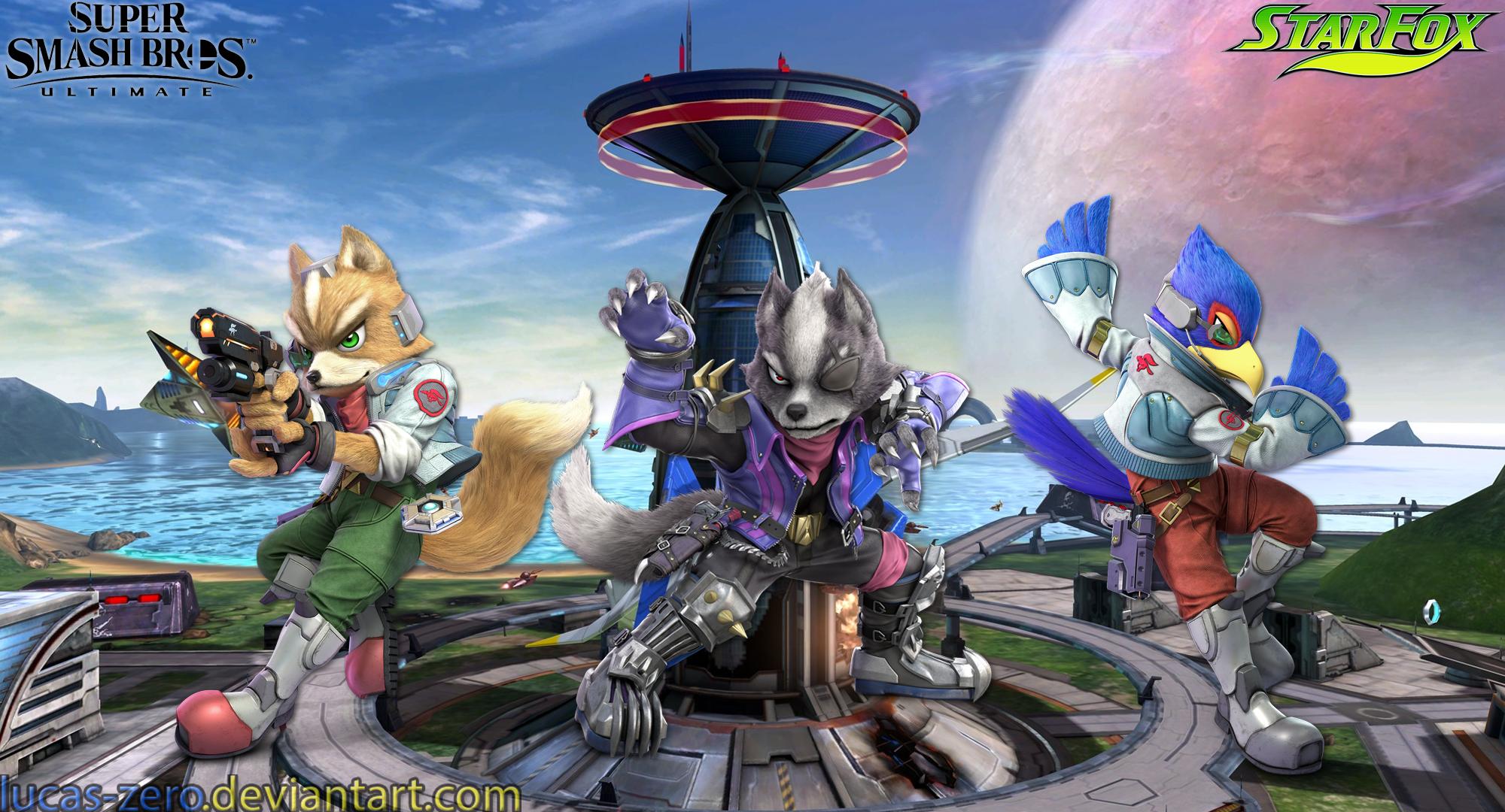 Star Fox Super Smash Bros Ultimate Wallpaper By Lucas Zero On