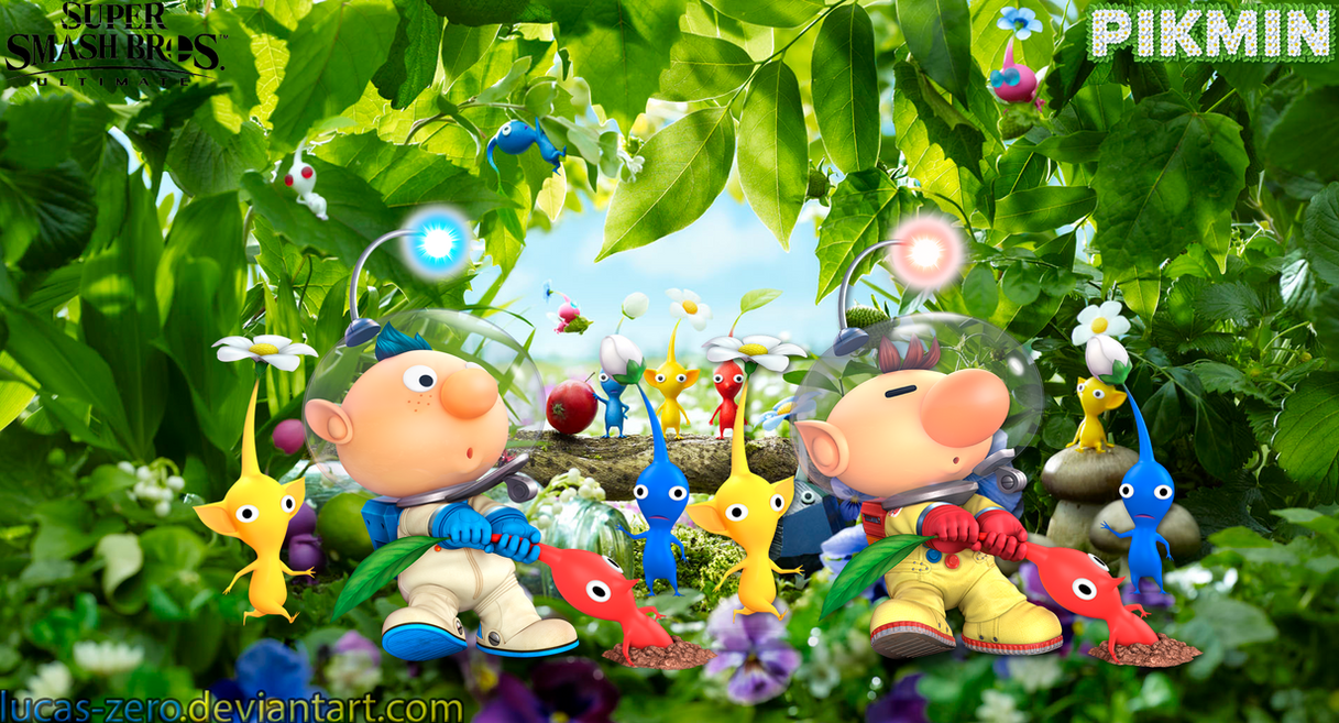 Pikmin Super Smash Bros. Ultimate Wallpaper by Lucas-Zero