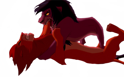 Scar vs Simba  by DragonoSaurus-Rex