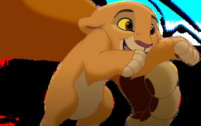 Simba playing with kiara