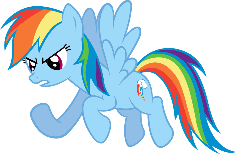 Rainbow Dash Vector #1 by EbonTopaz