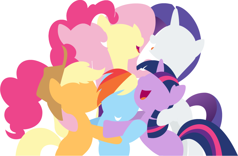 Mane 6 Vector #2 by EbonTopaz
