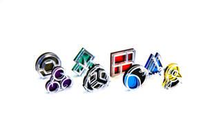 Pokemon Sinnoh Gym Badges by blazerdesigns