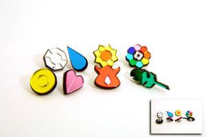 Pokemon Kanto Gym Badges by blazerdesigns