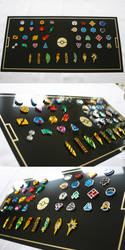 Pokemon Gym Badges Collection by blazerdesigns