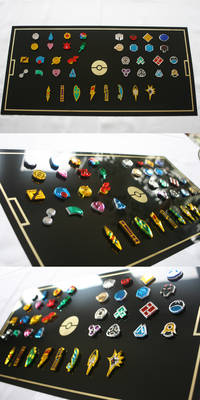 Pokemon Gym Badges Collection