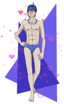 Swimsuit Kaito by Pikachoo654