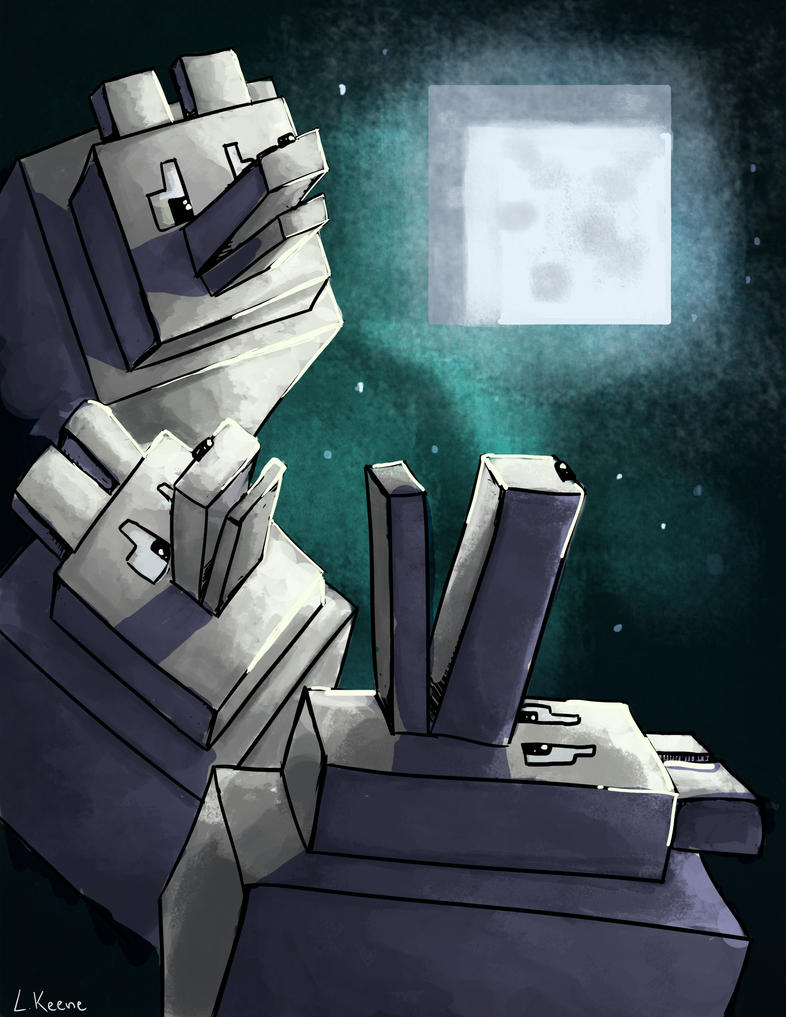 Three Minecraft Wolf Moon by Wolf Minecraft Skin
