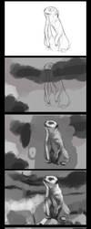 Meerkat in progress by Tygenja