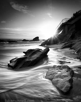 Diamond Street Rocks and Stairs   Laguna Beach, CA by LukeMunnell