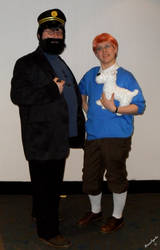 Cosplay Capitaine Haddock et Tintin by NiennaxAngelus