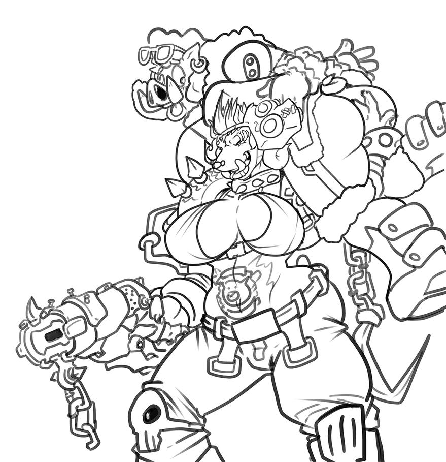 Mei overwatch coloring page coloring pages for Overwatch coloring pages