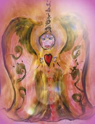 Cosmic Angel of Love, Study #1 by Solara Solstice