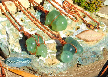 Green Prehnite Amulets by Solara Solstice