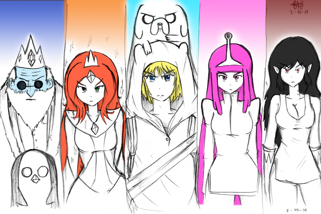 Adventure time - The main 5 characters in anime by ...