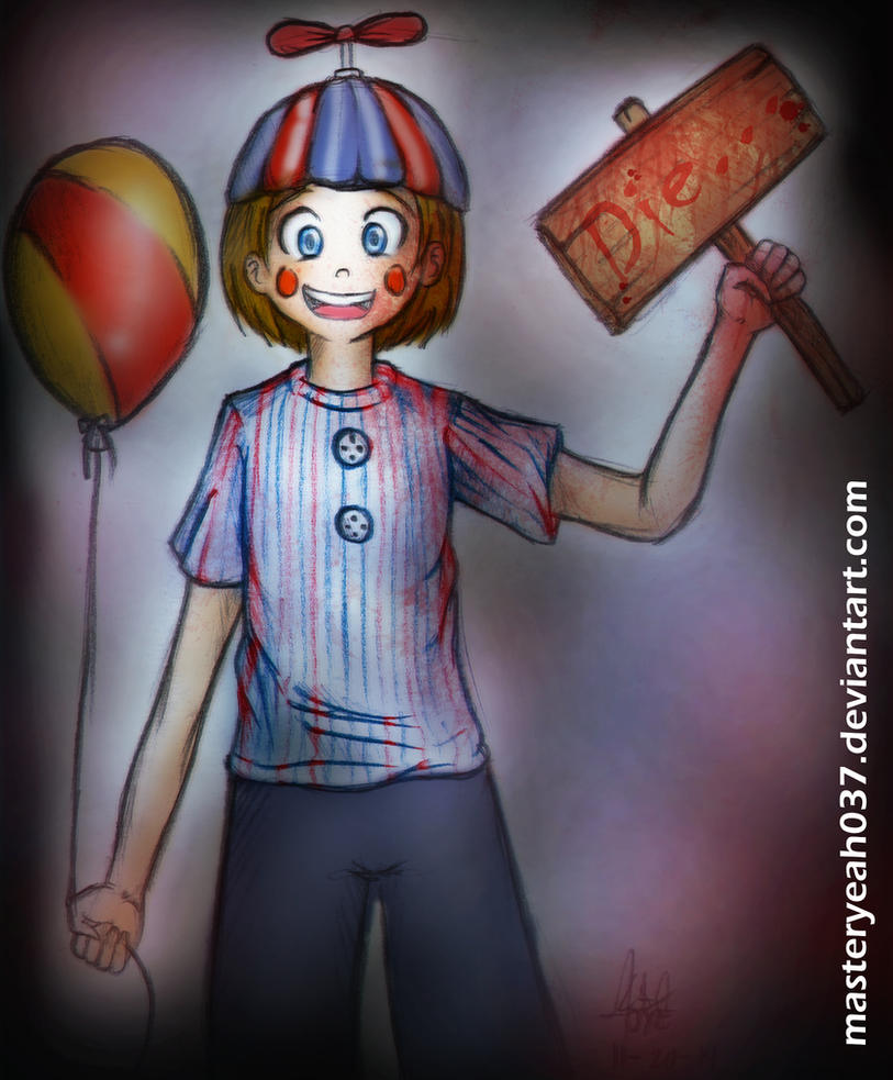 balloon boy five nights at freddys 2 by masterohyeah on