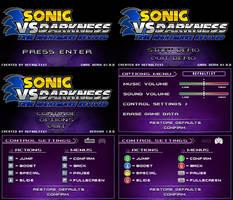 (Sonic vs Darkness TNR) Menu Screen Compilation by Kainoso