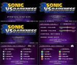 (Sonic vs Darkness TNR) Menu Screen Compilation