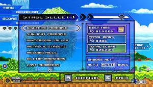 (Sonic vs Darkness TNR) Stage Select Menu by Kainoso