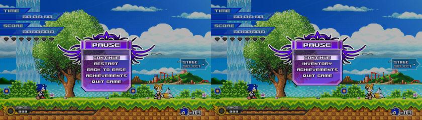 (Sonic vs Darkness) Pause Menu Design