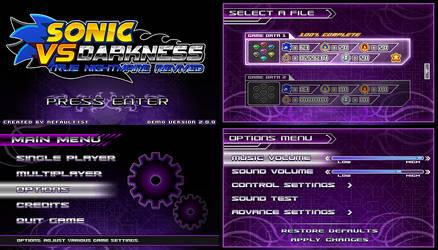 (Sonic vs Darkness) New Menu Design Compilation P1