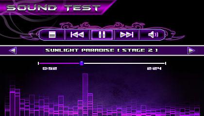 (Sonic vs Darkness) Sound Test Menu